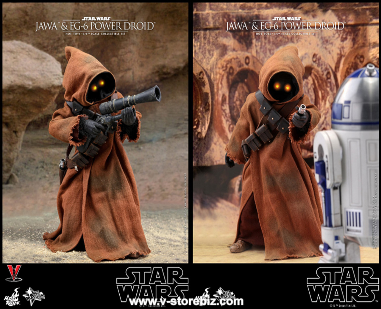 Hot Toys Star Wars JAWA MMS554 Ion Blaster loose 1//6th scale