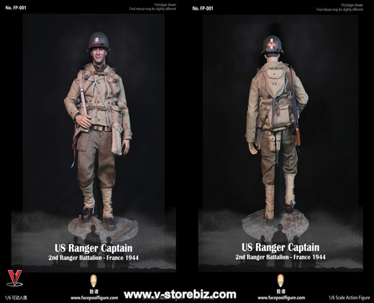 Facepoolfigure 1//6 FP001 US Ranger Captain 2nd Ranger Battalion France 1944 Toy