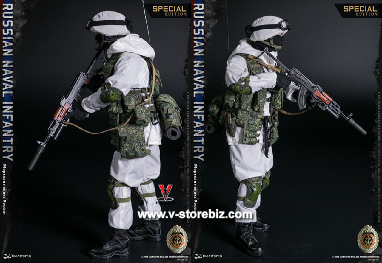 "DAMTOYS DAM 78070S 1//6 Russian Navy Infantry 12/"" Action Figure Vest Grenade Bags"