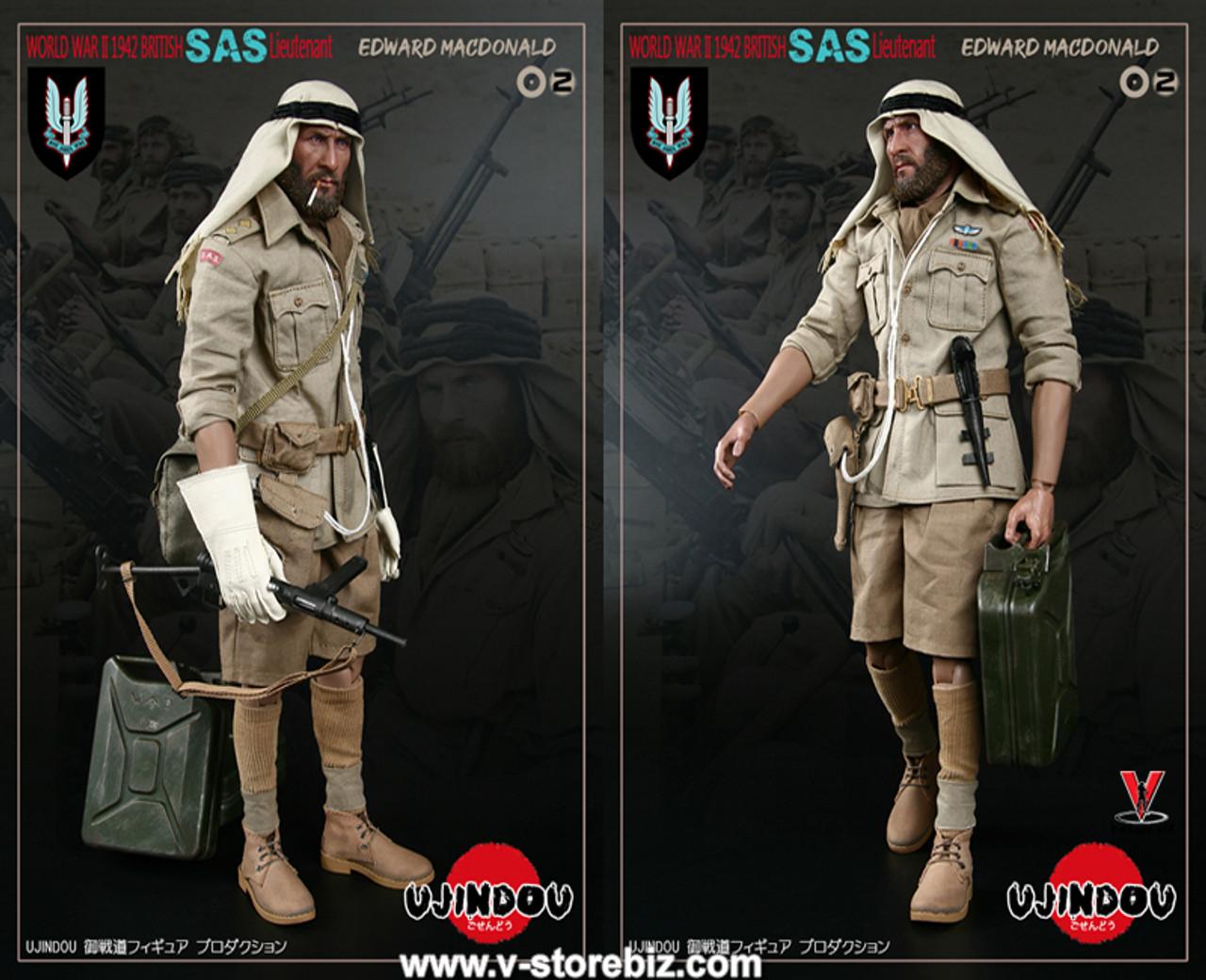 UJINDOU U9002 1//6 WWII British SAS Lieutenant EDWARD MACDONALD Scarf Model