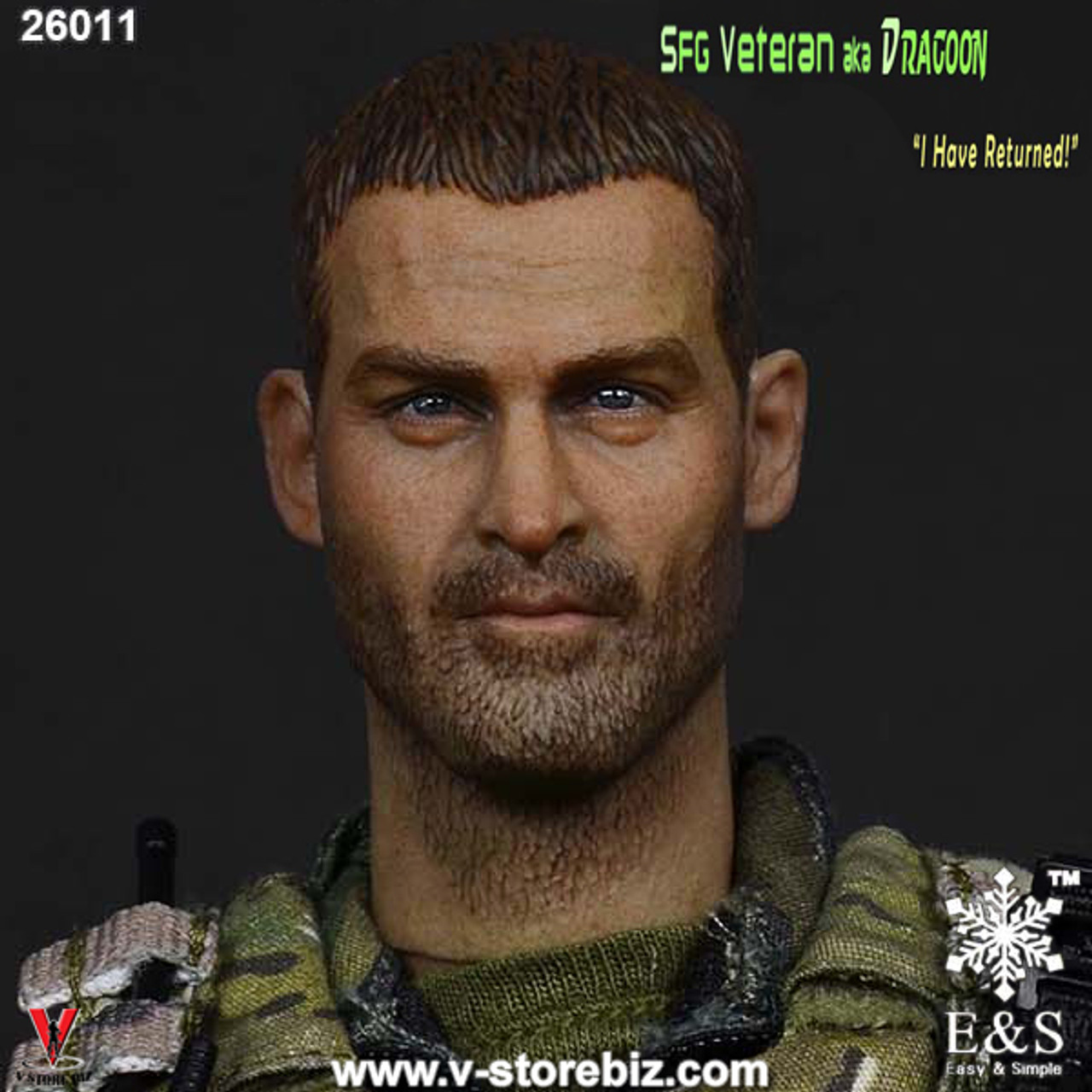 "1//6 Easy /& Simple ES 26011 Army SFG Veteran aka Dragoon ""I Have Returned!"""