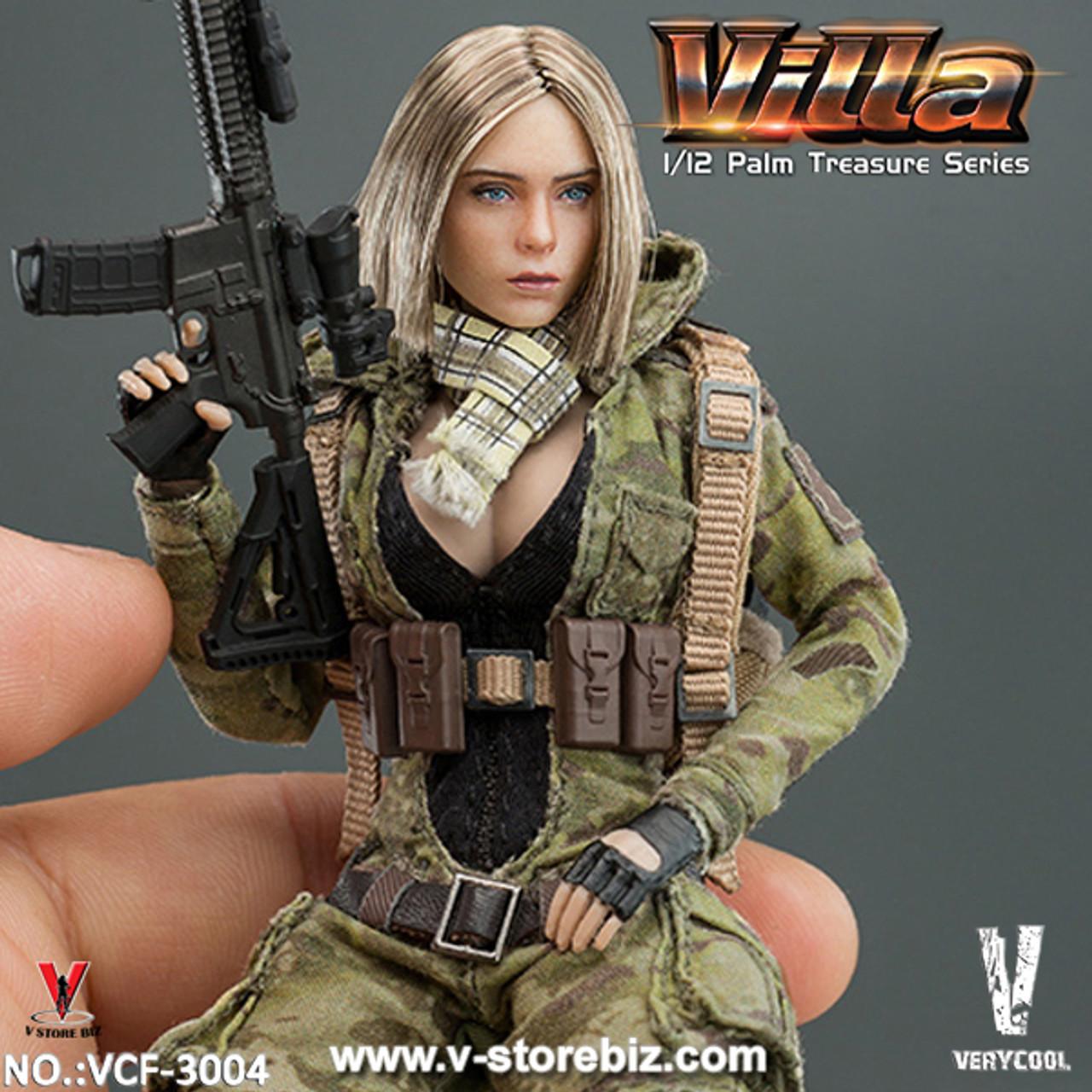 1//6 Scale Modern Era Villa Combat Jumpsuit Very Cool Female Figure