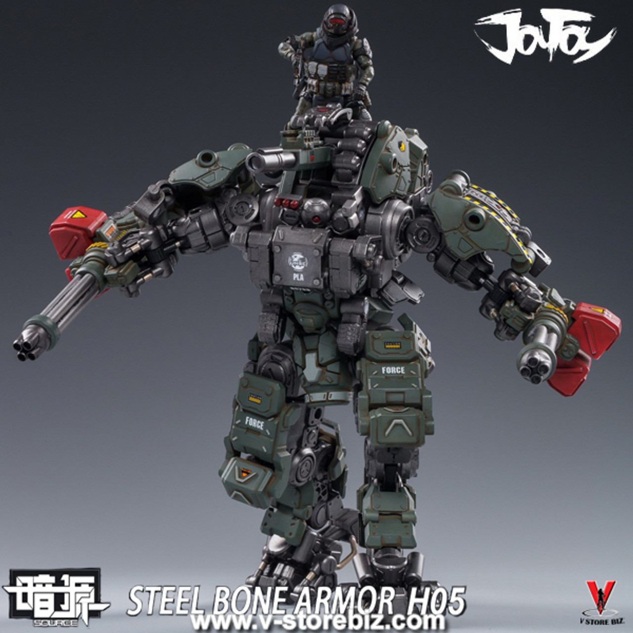 JOY TOY 1//25 Military Green Steel Bone H05 Heavy Firepower 23cm Armor Figure
