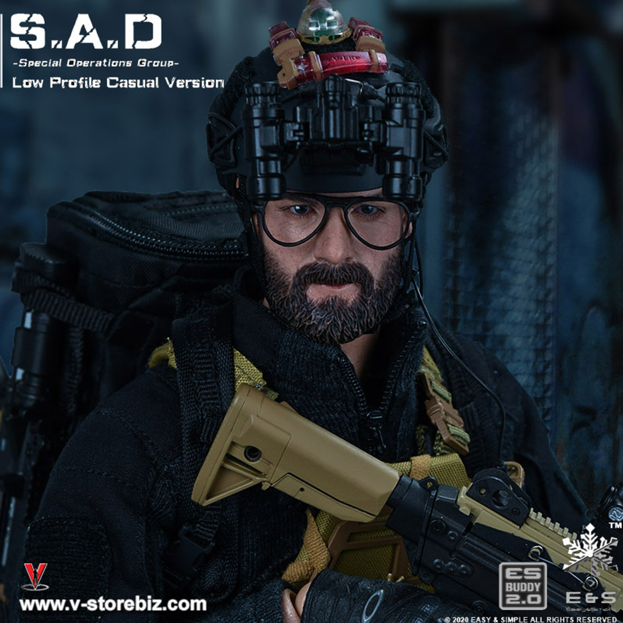 EASY/&SIMPLE ES 26038R 1//6 S.A.D Special Operation Group Coat Model