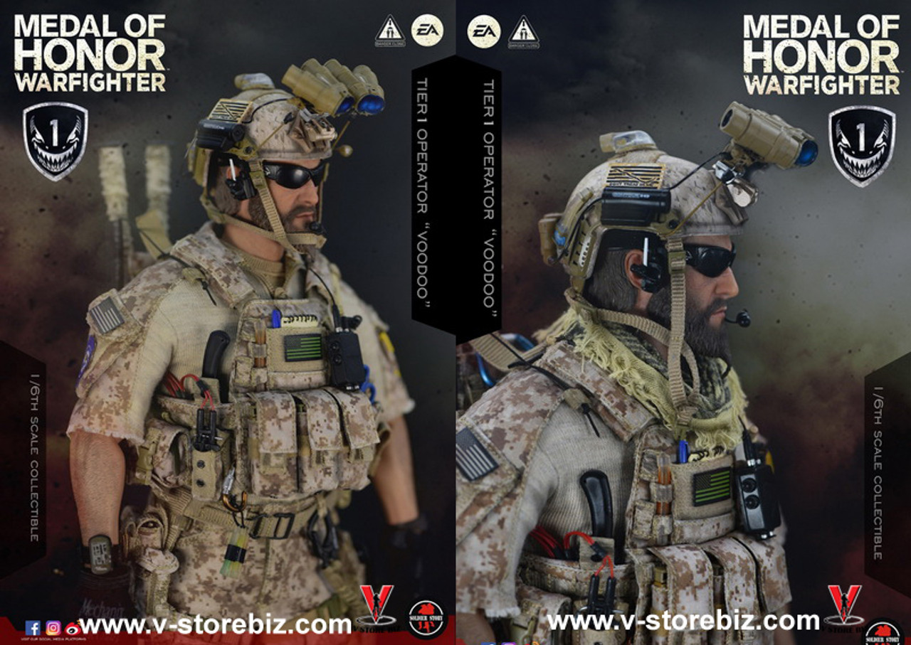 Soldier Story SS106 1//6 Medal of Honor SEAL VooDoo Figure Axe Dagger Holster