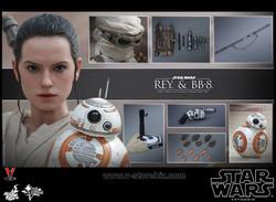 Hot Toys MMS337 Star Wars The Force Awakens Rey & BB-8 Set