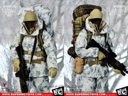 SUPERMCTOYS M-063 Marine Corps Snow Marpat Camo set