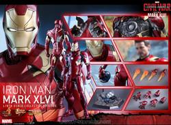 Hot Toys MMS353D16 Captain America: Civil War Iron Man Mk XLvi