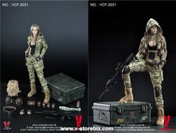VeryCool VCF2031 MC Camouflage Women Soldier Villa