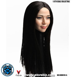 SuperDuck SDH010A Asian Female Headsculpt (Long Black Hair)