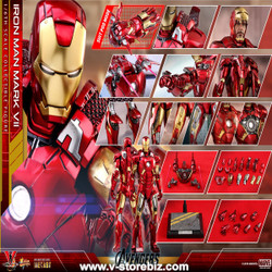Hot Toys MMS500D27 The Avengers Iron Man Mark VII