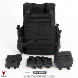 DAM 78050 US Navy Officer Tactical Plate Carrier Vest & Pouches