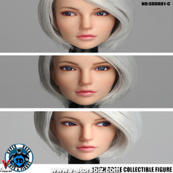 SuperDuck SDDX01C Female Headsculpt (Silver)