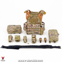 E&S 26022R SAS CRW Urban Raid Jumpable Plate Carrier & Pouches