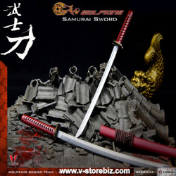 WolfKing WK88004B Samurai Katanas (Red)