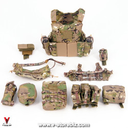 E&S 26026 Ranger RRC (Camo) Multicam MBAV Plate Carrier, Chest Rig & Pouches
