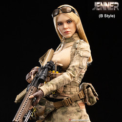 VERYCOOL VCF2037B A-TACS FG Double Women Soldier JENNER (B Style)