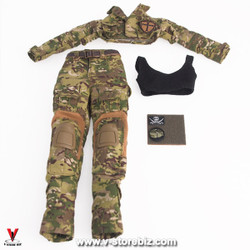 Flagset MC War Angela Uniform, Bra Top & Patches