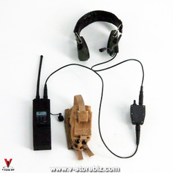 Flagset FS73014 US 75th Ranger Afghanistan Radio, Headset & Pouch