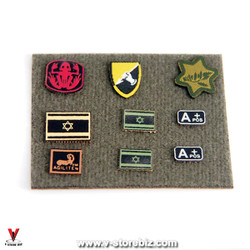 Flagset Israeli Sayeret Matkal Patches & Map