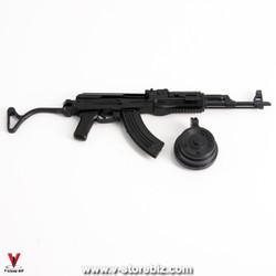 4D Model AK-47 Rifle & Magazine Drum