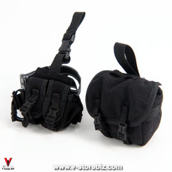 MiniTimes M014 CIA Armed Agent Dropdown & Gasmask Bag