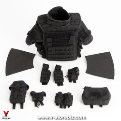 DAM 78061 French Police Eximus Body Armor, Shoulderpads & Pouches