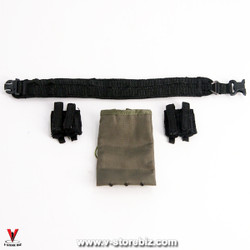 DAM 78061 French Police Unit MOLLE War Belt, Mag Pouches & Dumpbag