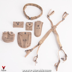 Soldier Story SS111 U.S. Army 28th Infantry M-1936 Suspender, Belt & Pouches
