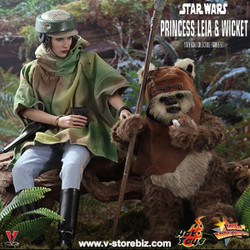 Hot Toys MMS551 Star Wars: Return of the Jedi Princess Leia & Wicket