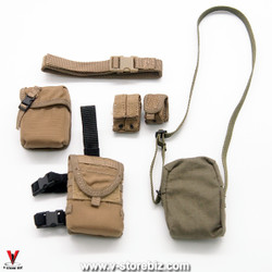 Soldier Story SS107 ISOF SAW Gunner Belt, Dropdown & Pouches