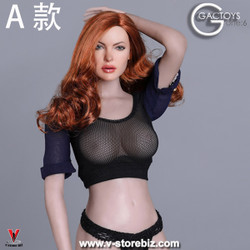 GACToys GC031A Auburn Wavy-haired Female Headsculpt