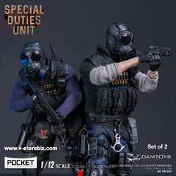DAMToys PES007 & PES008 1/12 Pocket Elite Series Hong Kong SDU Set of 2