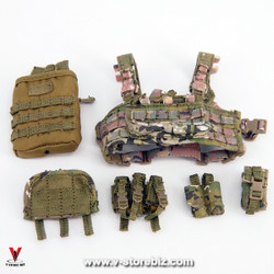 E&S 26011 Army SFG Veteran Dragoon Chest Rig & Pouches