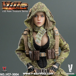 Very Cool VCF3004 Palm Treasure Series 1/12 MC Camouflage Women Soldier - Villa