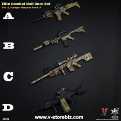 E&S 06022 Elite Combat Unit Gear Set Ranger Firearm Pack (Set of 4)