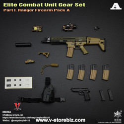 E&S 06022 Elite Combat Unit Gear Set A Mk.17 Assault Rifle & Pistol