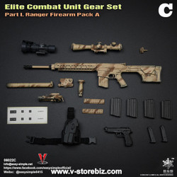 E&S 06022 Elite Combat Unit Gear Set C SR-25K Rifle & Pistol