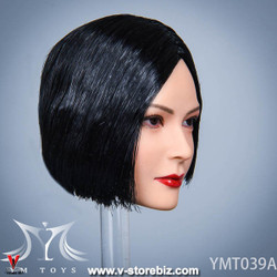 YMToys YMT039A Black-haired Female Headsculpt