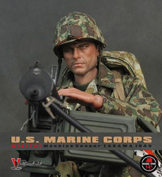 Soldier Story SS049 WWII US Marine Crops M1917A1 Gunner (1943 Tarawa)