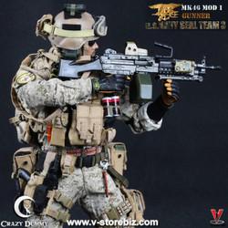 Crazy Dummy 78001 US NAVY SEAL Team 3 MK46 MOD 1 Gunner