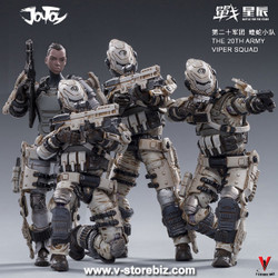 JOYTOY JT0180 1/18 Free Truism 20st Legion - White Viper Squad + Betty