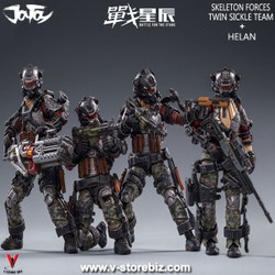 JOYTOY JT0173 1/18 Skeleton Forces Twin Sickle Squad + Helan