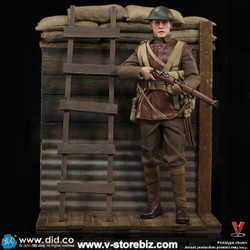 DID B11011 WWI British Infantry Lance Corporal William + Trench Diorama