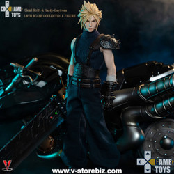 GAMETOYS GT-002C Cloud Strife & Hardy-Daytrona Bike