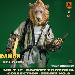 "Mr.Z PZCS014 7"" Pocket Zootopia Collection-Series No.6 Damon"