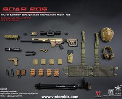E&S 06025A SCAR 20S Multi Caliber DMR Kit (Tan)