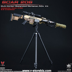 E&S 06025C SCAR 20S Multi Caliber DMR Kit (Tan)