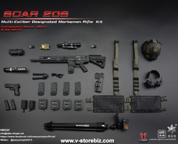 E&S 06025F SCAR 20S Multi Caliber DMR Kit (Black)