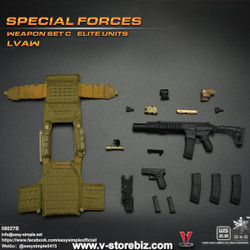 E&S 06027 Special Forces Weapon Set C Elite Units LVAW Set B